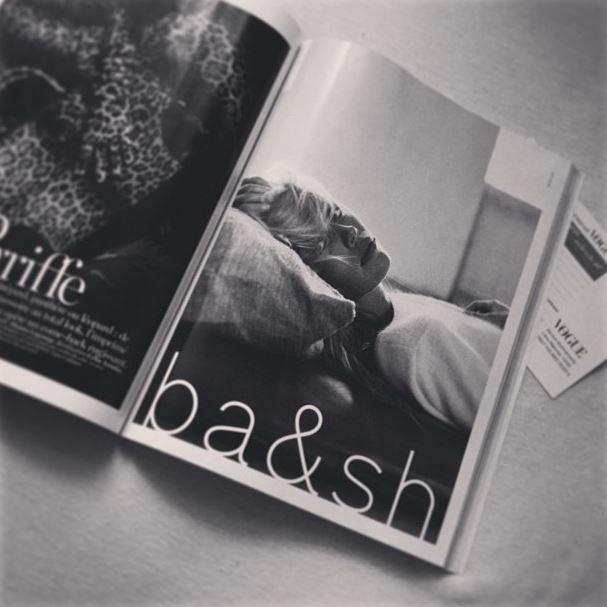 Model Margaux Lonneberg dans Vogue pour Bash