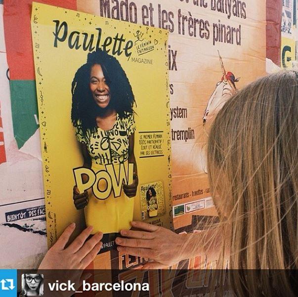 Affichage Paulette mag regram vick_barcelona